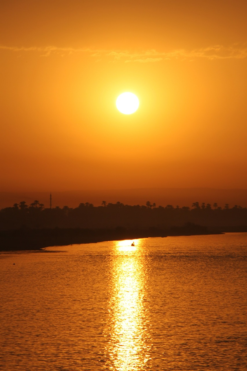 egypt, sunset, nil