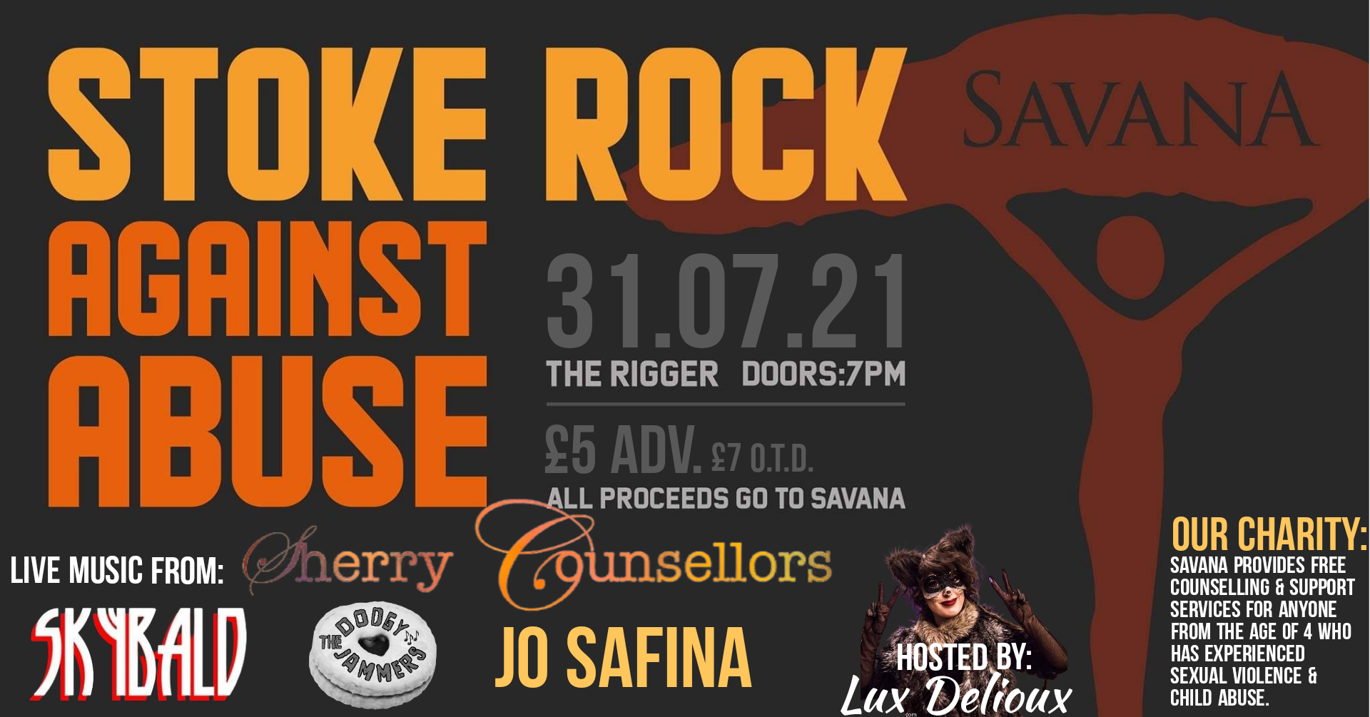 Rock Against abuse  £870